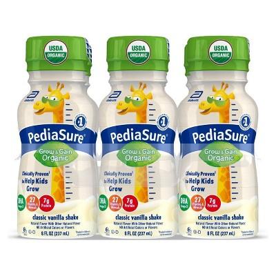 PediaSure Organic Kids Nutritional Vanilla Shake - 6pk/48 fl oz