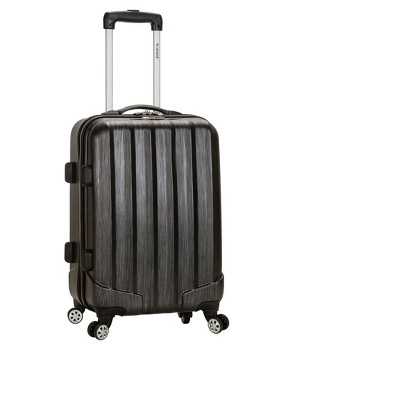 "Rockland Melbourne 20"" Expandable ABS Carry On Spinner Suitcase - Metallic"