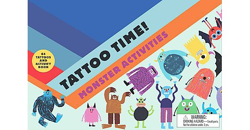 Tattoo Time! Monster Activities (Paperback) - image 1 of 1