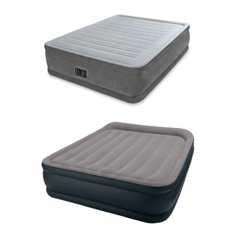 e92c9b9047d54 Intex Queen Comfort Plush Airbed + Queen Pillow Rest Airbed With Built-In  Pump   Target
