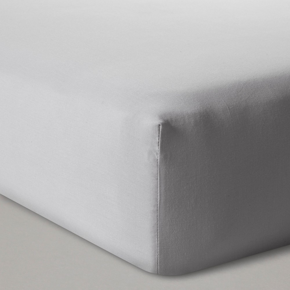 Fitted Crib Sheet Solid Cloud Island 8482 Gray