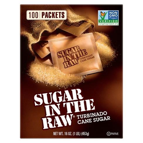 Sugar In The Raw Turbinado Cane Sugar Packets - 100ct/16oz - image 1 of 3
