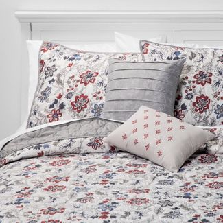 5pc King Chelsea Quilt Set Berry