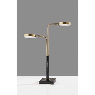 LED Rowan Desk Lamp with Smart Black Switch (Includes LED Light Bulb) - Adesso
