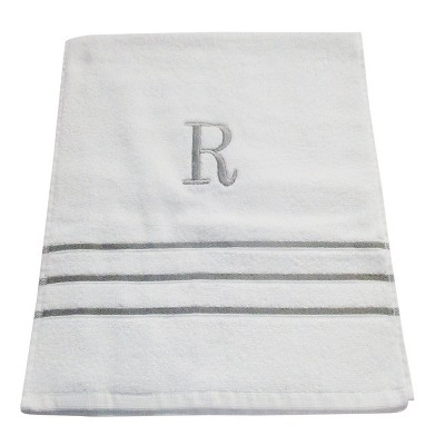 Monogram Hand Towel R - White/Skyline Gray - Fieldcrest®