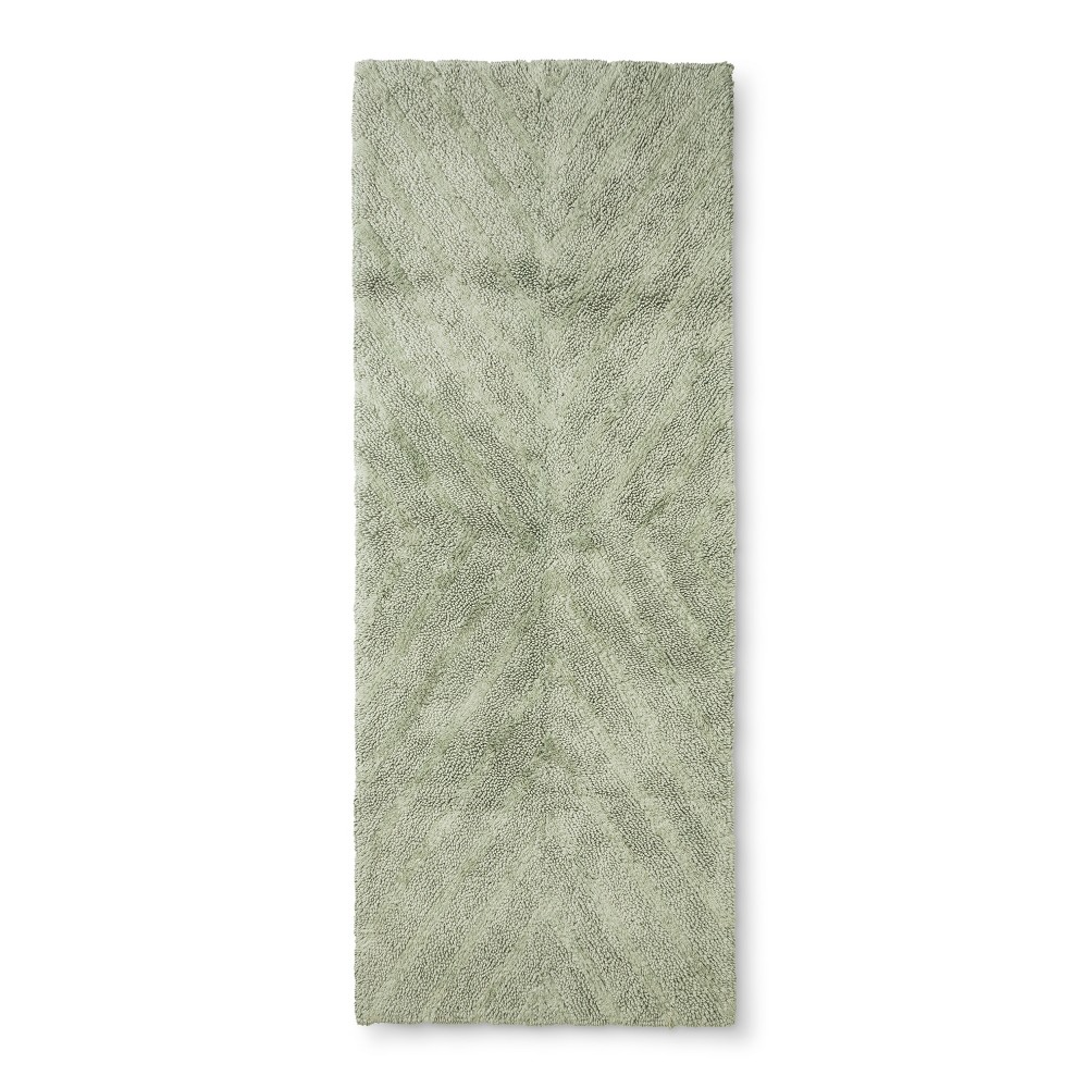 "Image of ""58""""x23"""" Tufted Bath Rug Green - Project 62 + Nate Berkus"""