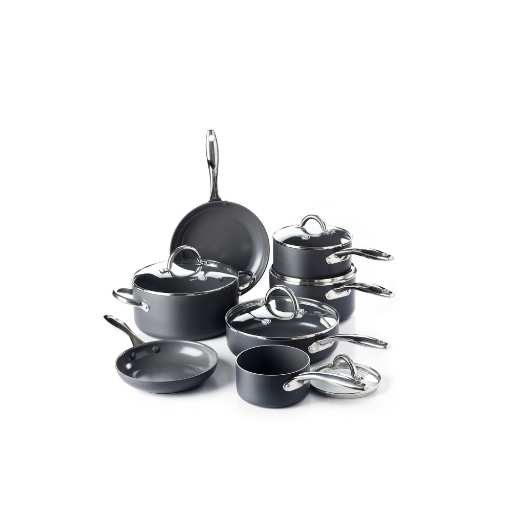 Image of GreenPan Madison 12pc Hard Anodized Ceramic Non-Stick Cookware Set