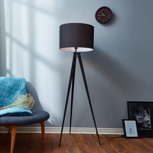 Versanora Romanza Tripod Floor Lamp With Black Shade Only Target