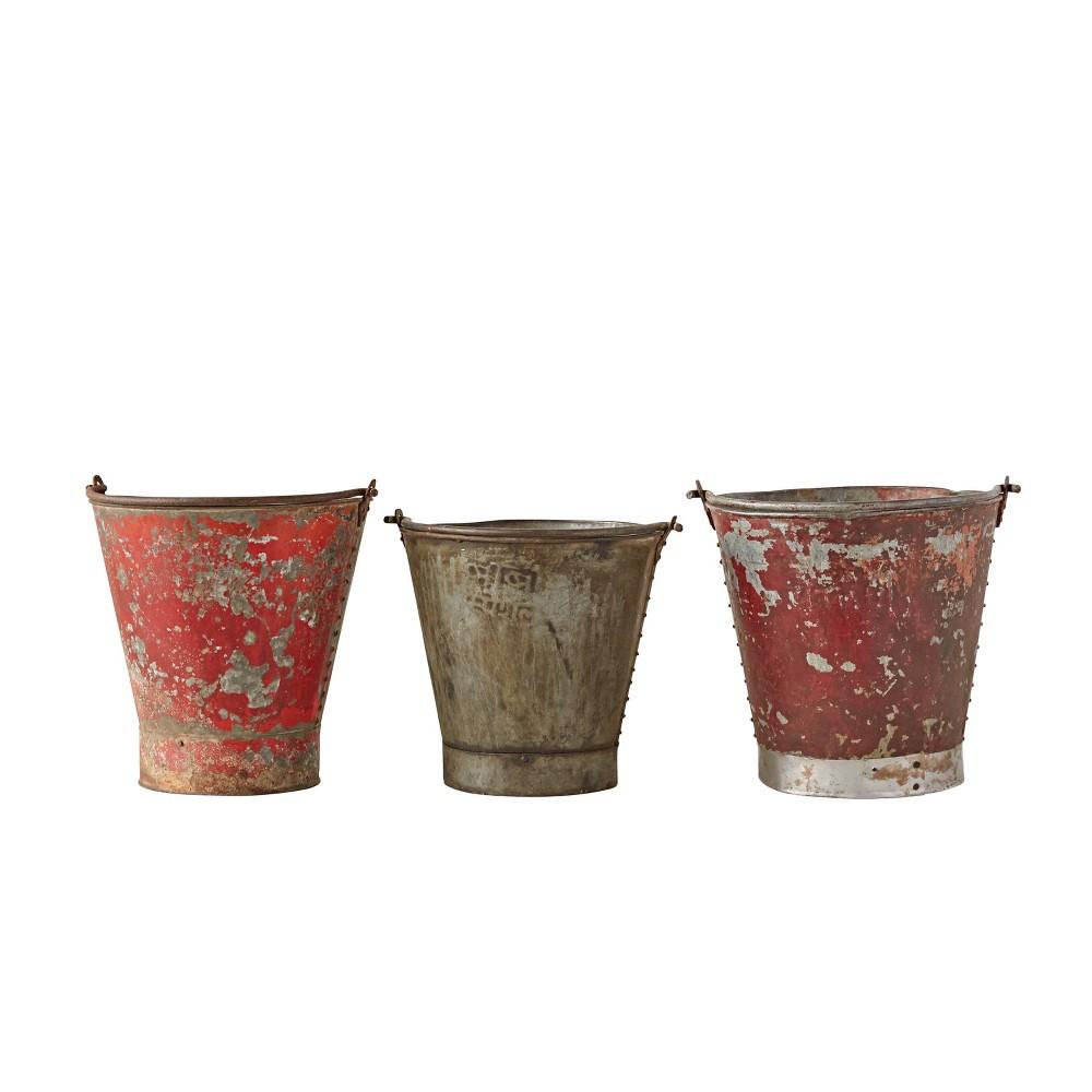 Image of Found Metal Bucket - Set of 3 - 3R Studios