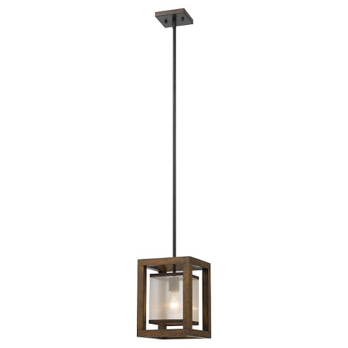 Cal Lighting Mission wood and Metal Pendant - image 1 of 1
