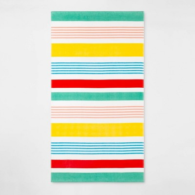 Variegated Stripe Beach Towel - Sun Squad™