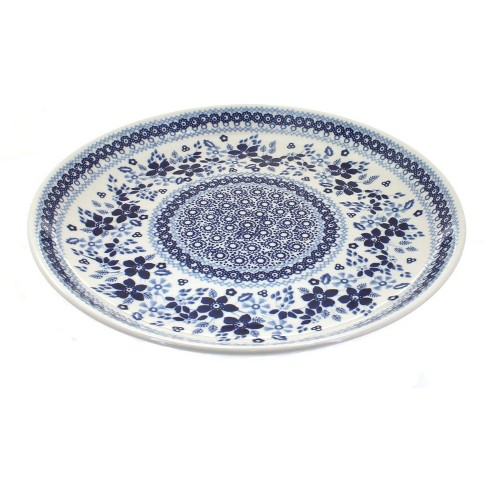 Blue Rose Polish Pottery Vintage Blue Daisy Large Dinner Plate - image 1 of 1