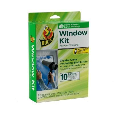 """Duck 62"""" x 420"""" 10pk Shrink Indoor Window Film Insulation Kit"""
