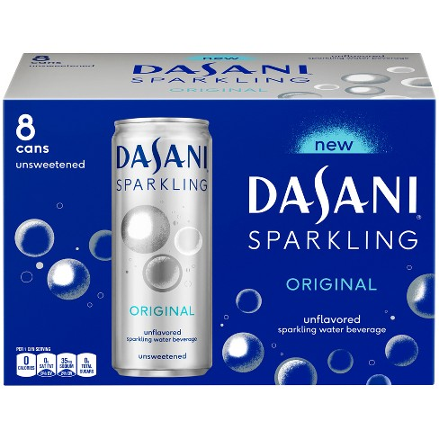 Dasani Sparkling Original Unflavored - 8pk/12 fl oz Cans - image 1 of 3