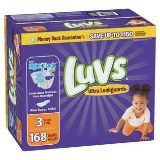 Luvs Disposable Diapers Giant Pack - Size 3 (168ct)