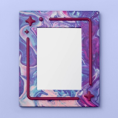 More Than Magic™ Magnetic Locker Mirror with Led Light - Purple Marble