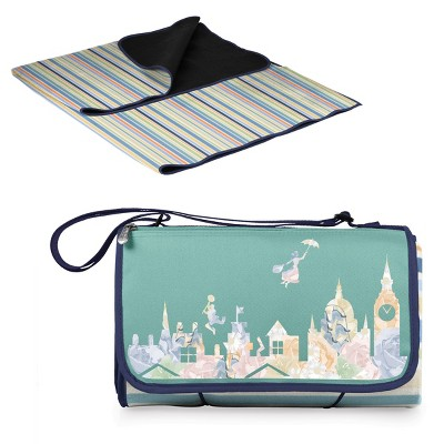 Picnic Time Disney: Mary Poppins Blanket Tote Outdoor Picnic Blanket - St. Tropez Stripes