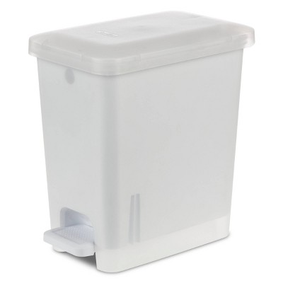 2.7gal Step-On Trash Can Clear - Room Essentials™