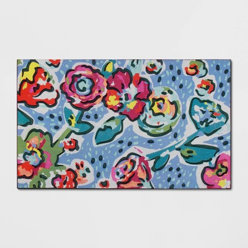 "1'6""X2'6""/18""X30"" Floral Doormat - Opalhouse™ - image 1 of 3"