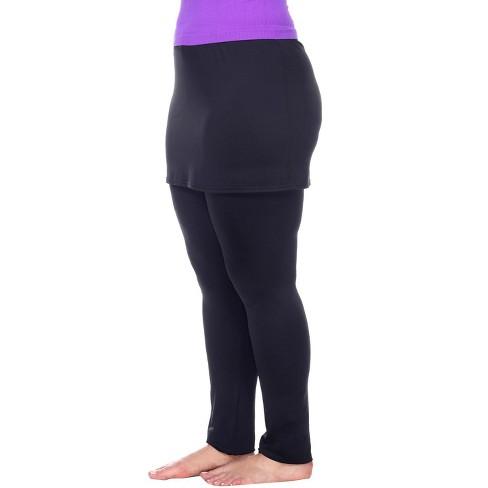 Women's Plus Size Skirted Leggings - White Mark - image 1 of 3