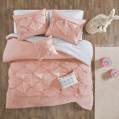 Twin Melody Cotton Comforter Set Blush