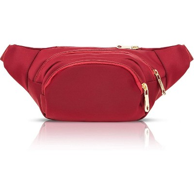 Plus Size Red Fanny Pack, Expand to 5XL