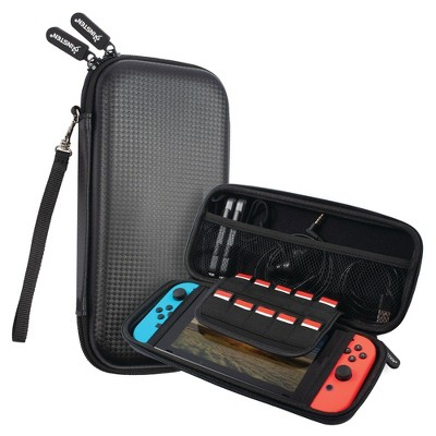 Insten Carrying Case for Nintendo Switch - Portable Travel Case, Hard Shell Pouch with 10 Game Card Slots, Black
