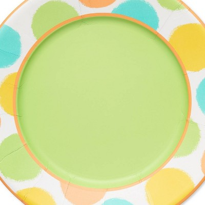 24ct Happy Day Large Dinner Plates - Papyrus