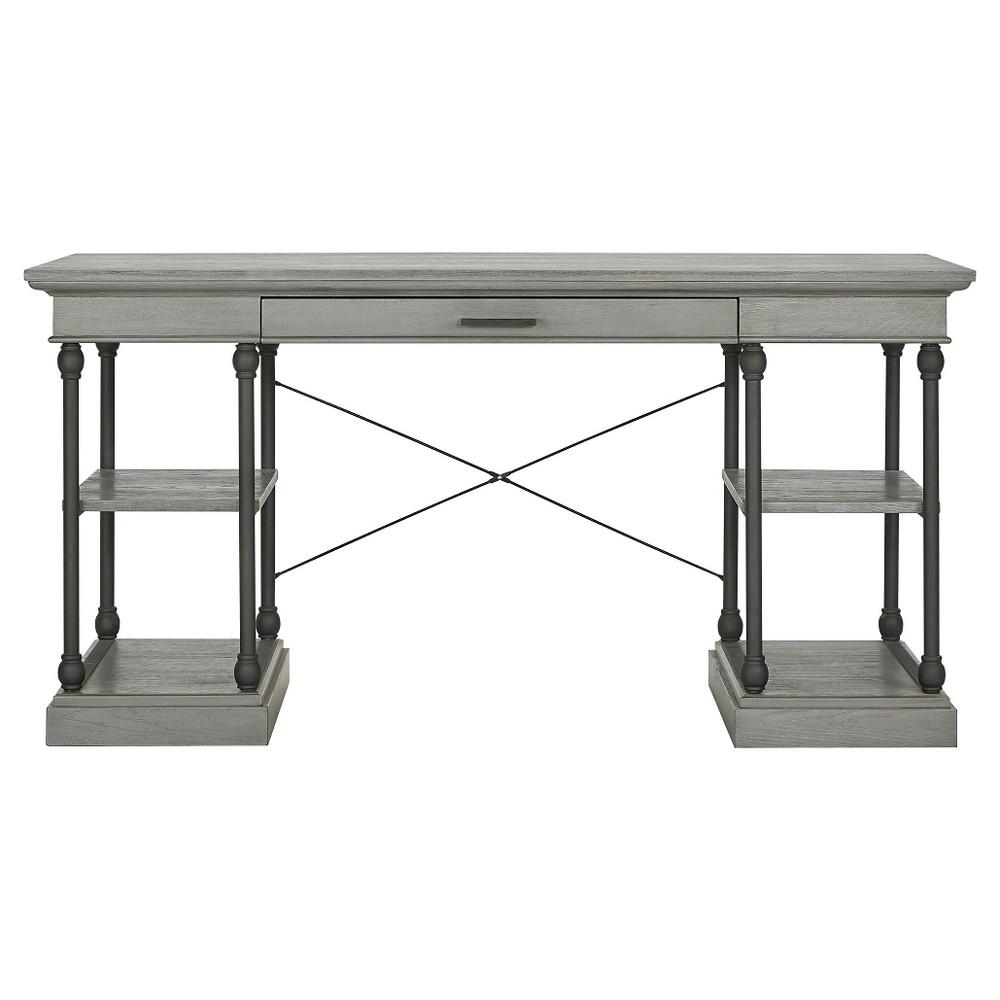 Belvidere Writing Desk Gray - Inspire Q