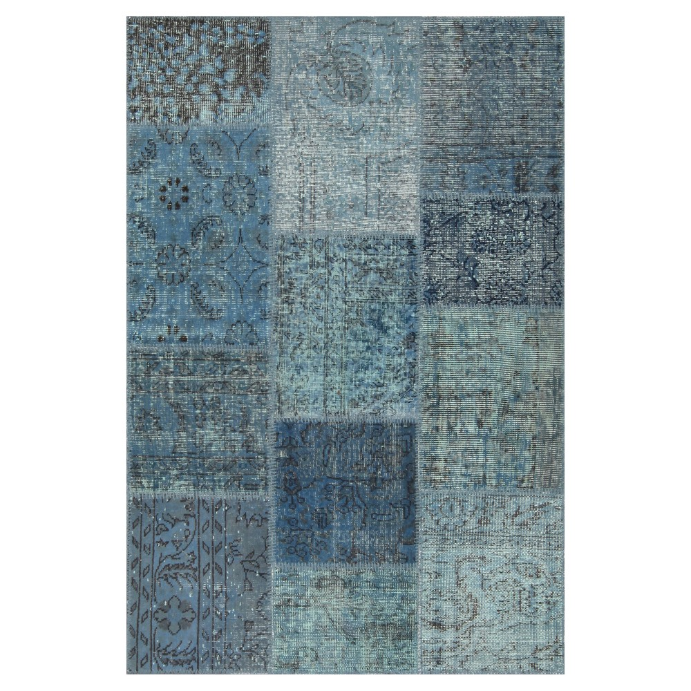 "Image of ""Antique Patchwork Accent Rug Blue 3'11""""x5'11"""""""