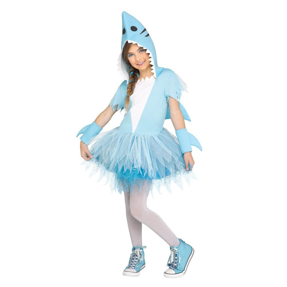 Girls' Shark Tutu Halloween Costume M, Gray