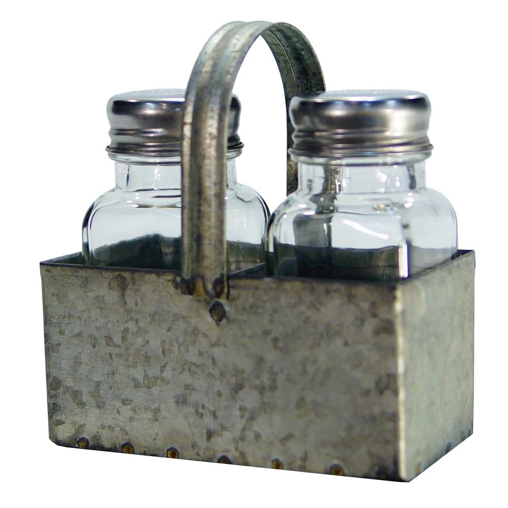 Metal Salt & Pepper Holder - Vip Home & Garden, Gray