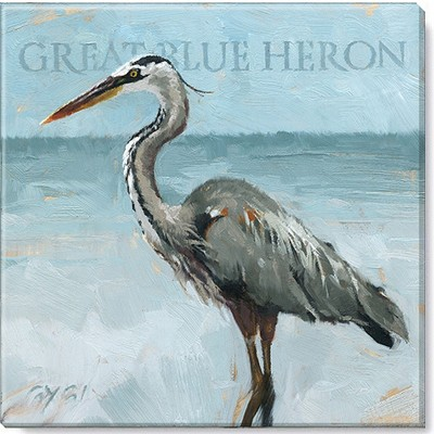 Sullivans Darren Gygi Blue Heron Canvas, Museum Quality Giclee Print, Gallery Wrapped, Handcrafted in USA