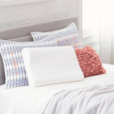 Comfort Revolution Contour Memory Foam Bed Pillow - White (Standard)