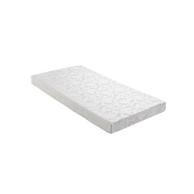 "Twin 6"" Polyester Filled Mattress with Jacquard Cover White - Room & Joy"