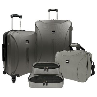 U.S. Traveler Luggage Set - Iron Gray