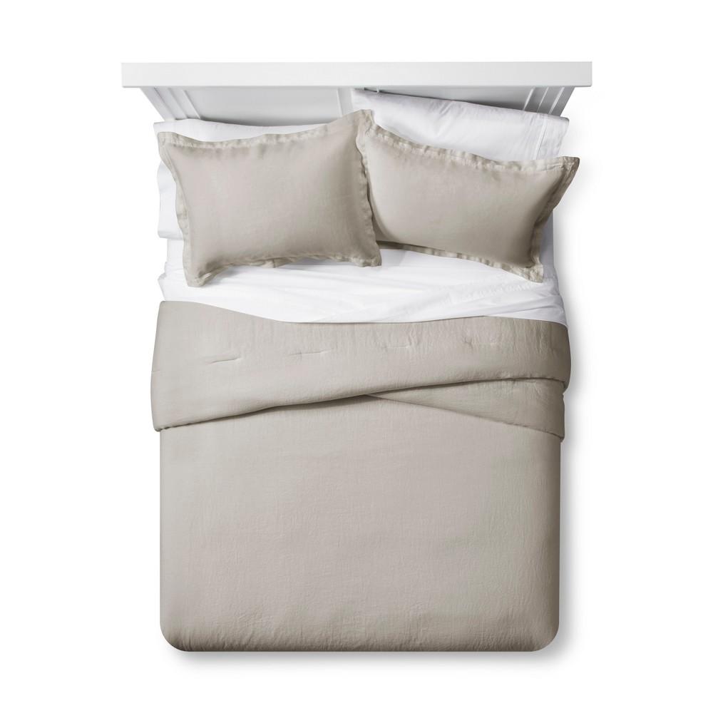 Image of Afternoon Tea Lightweight Linen Comforter Set (King) - Fieldcrest