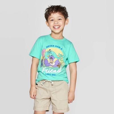Toddler Boys' Aladdin Friend Like Me Short Sleeve T-Shirt - Aqua 12M