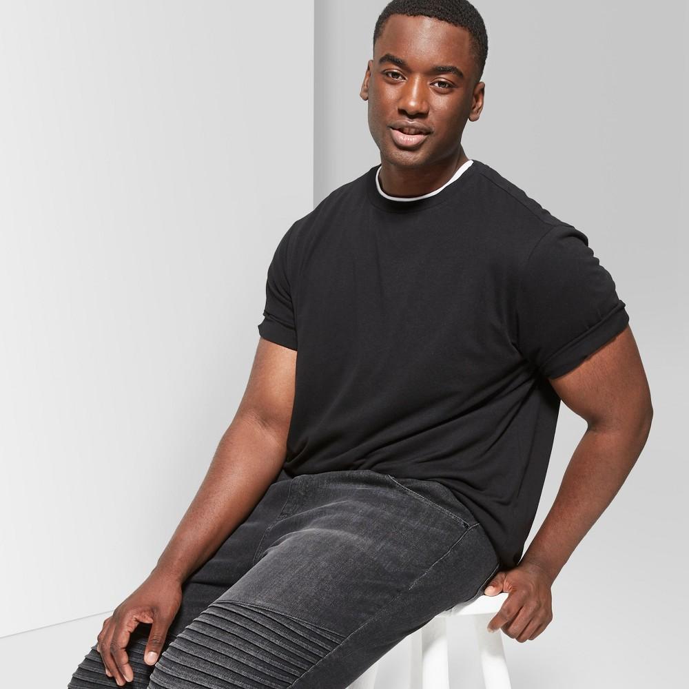 Men's Big & Tall Short Sleeve Curve Hem Crew T-Shirt - Original Use Black 2XB