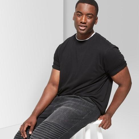 Men's Tall Short Sleeve Curve Hem Crew T-Shirt - Original Use™ Black MT - image 1 of 3