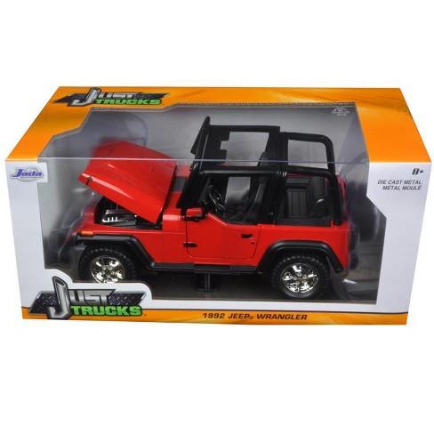 efb3c89574c 1992 Jeep Wrangler Red 1/24 Diecast Model Car By Jada : Target