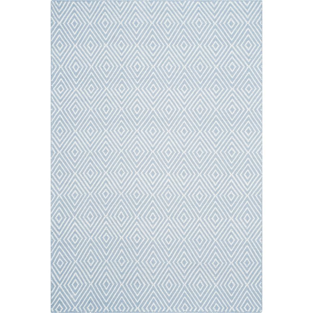 4'X6' Solid Hooked Area Rug Light Blue/Ivory - Safavieh