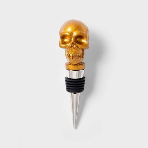 Gold Skull Halloween Bottle Stopper - Hyde & EEK! Boutique™ - image 1 of 1