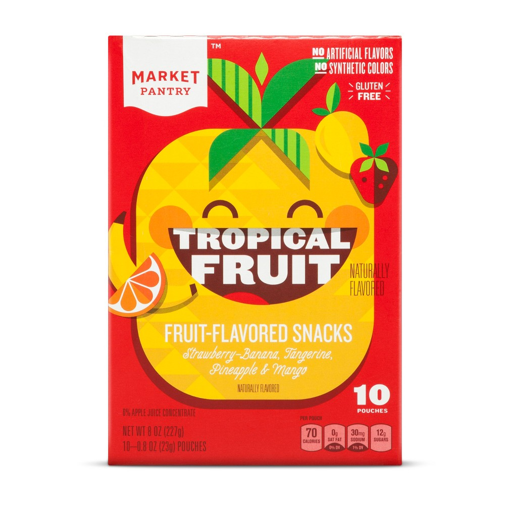 Tropical Flavored Fruit Snacks - 10ct - Market Pantry, Multi-Colored