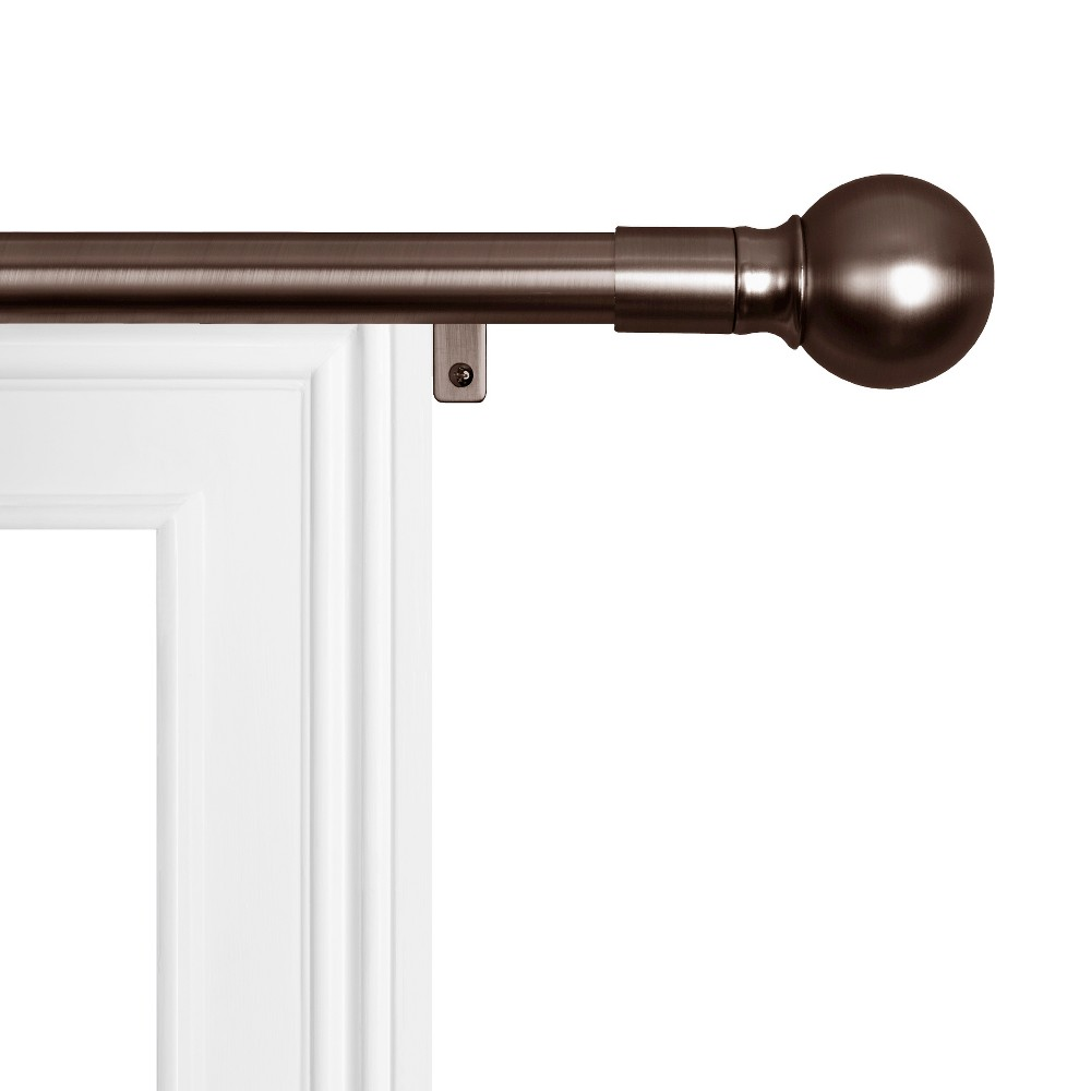 "Image of ""18""""x48"""" Easy Install Drapery Window Rod Bronze - Smart Rods"""
