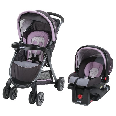 Graco FastAction Fold Janey Travel System - Black
