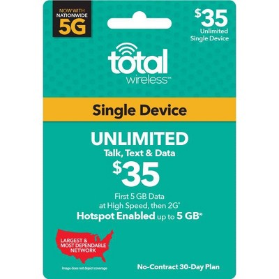 Total Wireless Unlimited Single Device 30-Day Plan (Email Delivery)