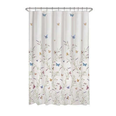 Garden Flight Butterflies PEVA Shower Curtain - Zenna Home