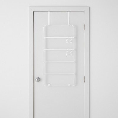 Over The Door Garment Rack With Accessories White - Made By Design™