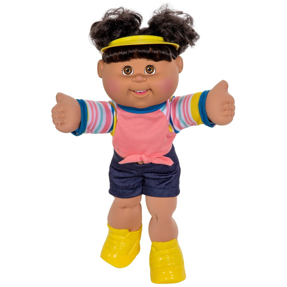 Cabbage Patch Kids 14 34 Sporty Girl Doll Light Brown Eyes